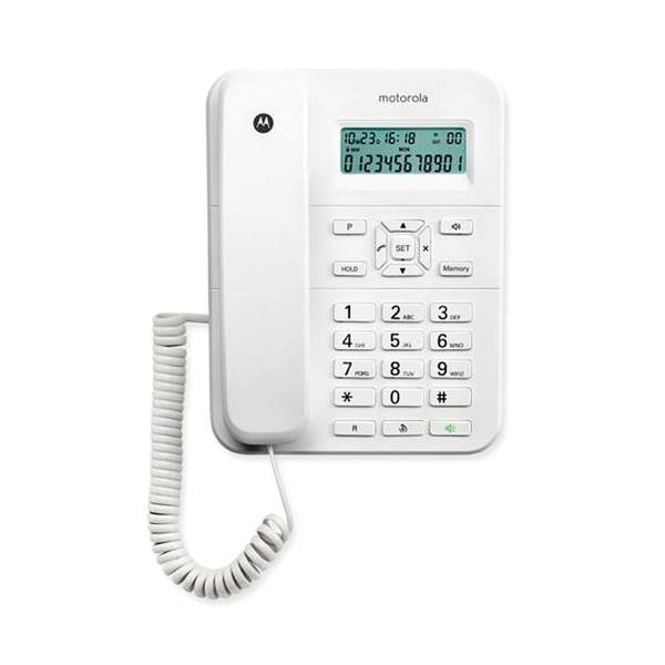 Motorola ct202 blanco teléfono fijo con amplia pantalla