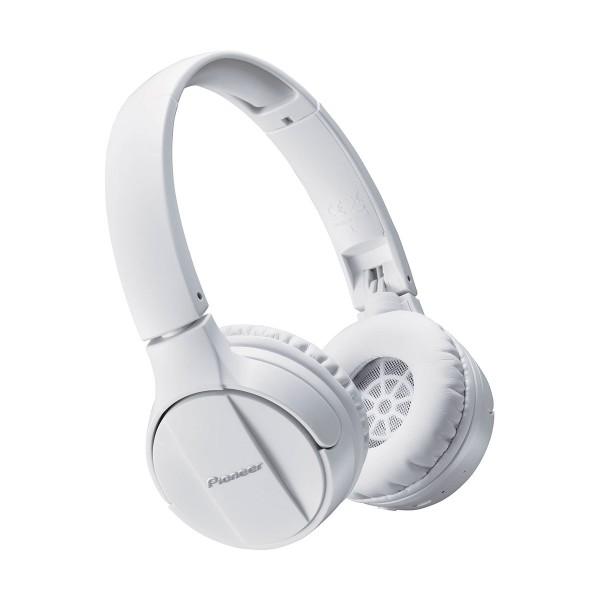 Pioneer se-mj553bt blanco auriculares inalámbricos bluetooth micrófono integrado alta calidad diseño plegable