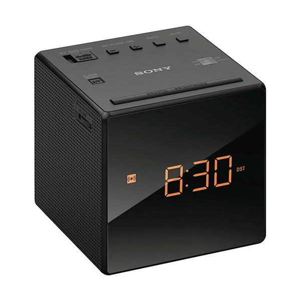 Sony icf-c1 negro radiodespertador sintonizador am/fm analógico alarma gradual 100mw de potencia