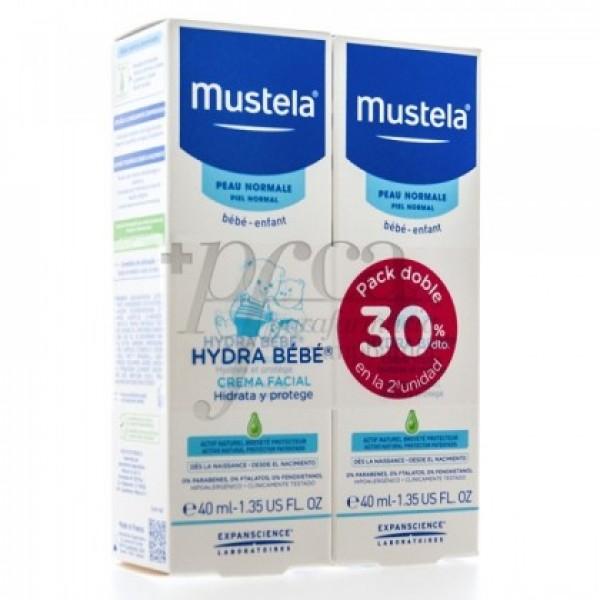 MUSTELA HYDRA BEBE CREMA FACIAL 2X 40ML PROMO
