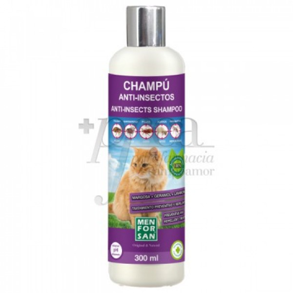 MEN FOR SAN CHAMPU ANTI-INSECTOS PARA GATO 300ML