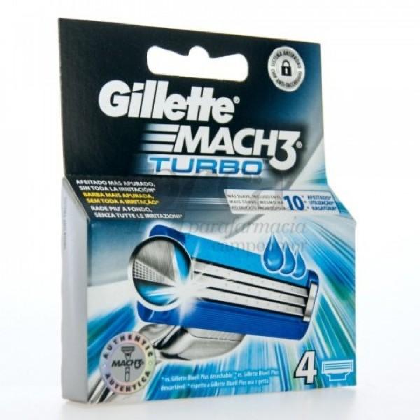 Gillette Mach3 Turbo 4 recambios