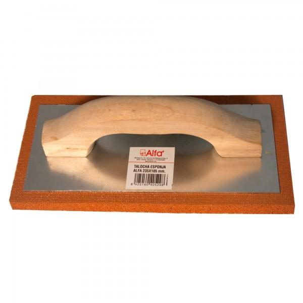 Talocha alfa esponja m/mad. 235x105 mm.
