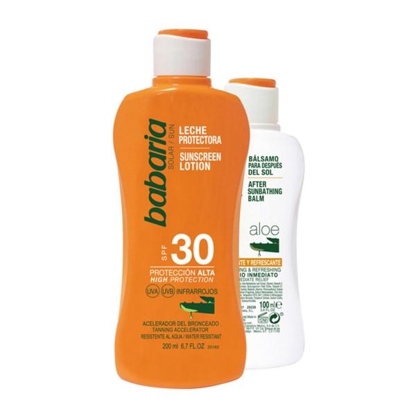 Babaria spf30 leche protectora aloe 200ml + after sun aloe 100ml