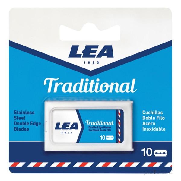 Lea traditional cuchillas doble filo pack 10u