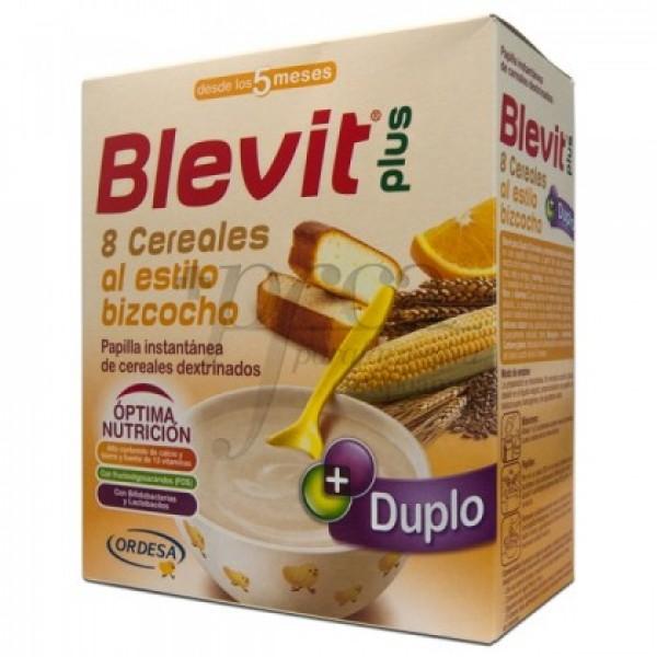 BLEVIT PLUS DUPLO 8 CEREALES BIZCOCHO 5M+ 600G