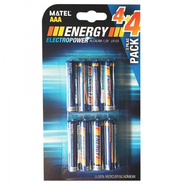 Pila energy alcalina lr03-aaa bl4+4u.